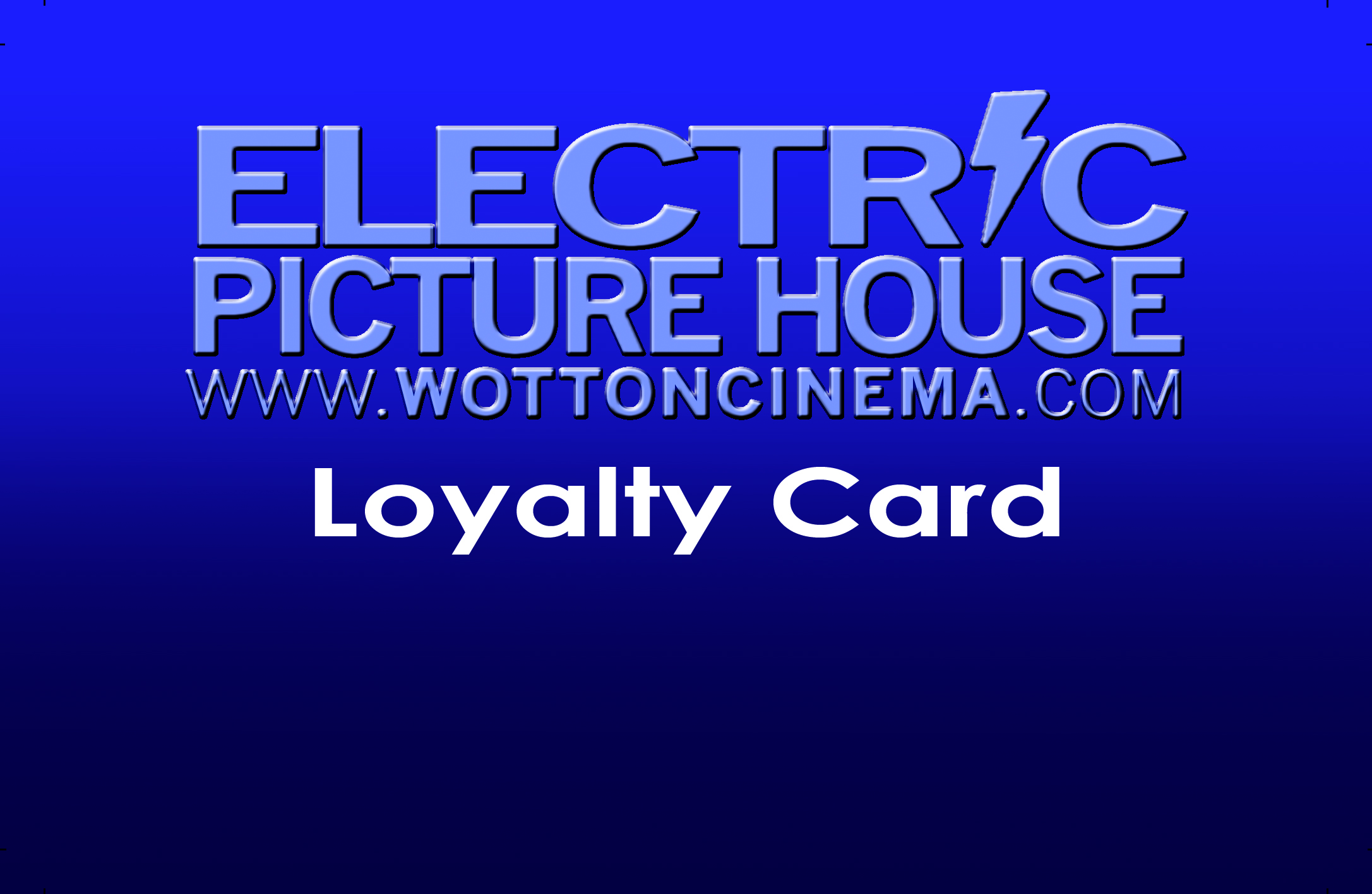 Electric Picture House Cinema Loyalty Card